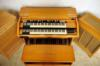 Hammond D102. c1969.UK Blonde faded over time. Blonde oak 122 and Pr40